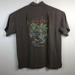 Tommy Bahama Paradise Island Embroidered Silk